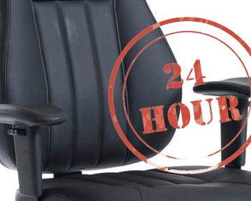 24hr Leather Office Chairs