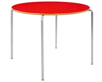 Circular crush bent tables