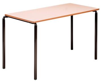 Rectangular crush bent tables