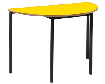 Semi-circular fully welded tables