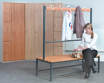 Locker stand & benches