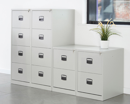 Metal filing cabinets