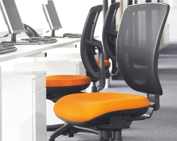 Mesh back operator chairs