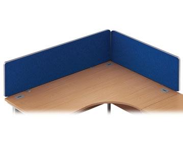 Curved Top Desk Screens