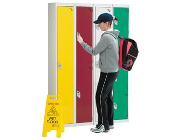 Wet area lockers