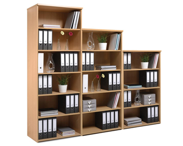 Wooden office bookcases