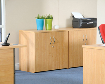 Wooden office cupboards