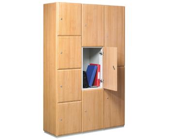 Wooden lockers