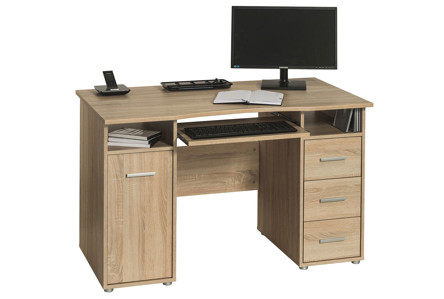 Gelo Home Office Desk Sonoma Oak