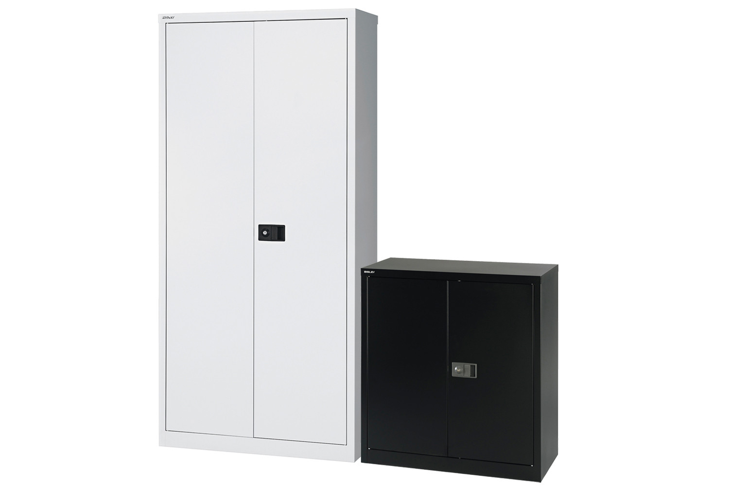 Bisley economy double door steel cupboard