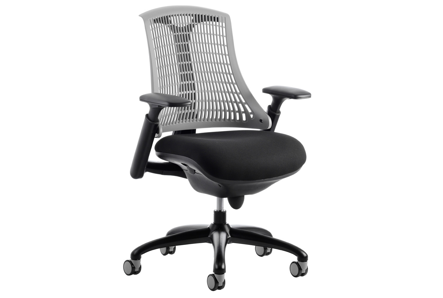 Warp black frame grey mesh back operator chair