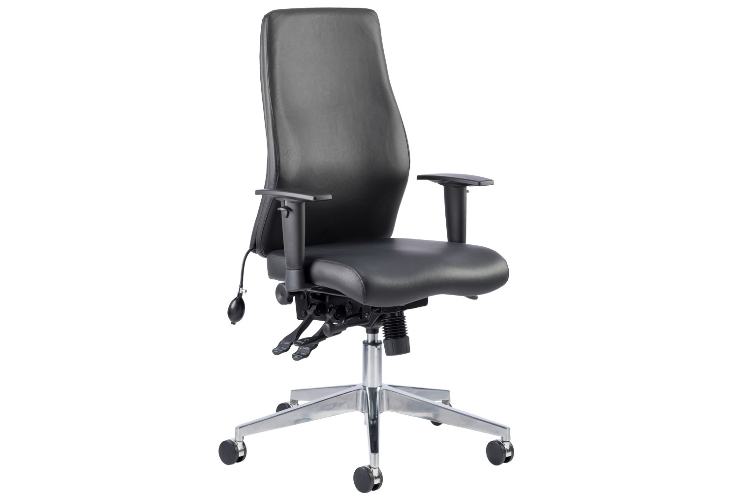 Brechin high back leather faced executive chair