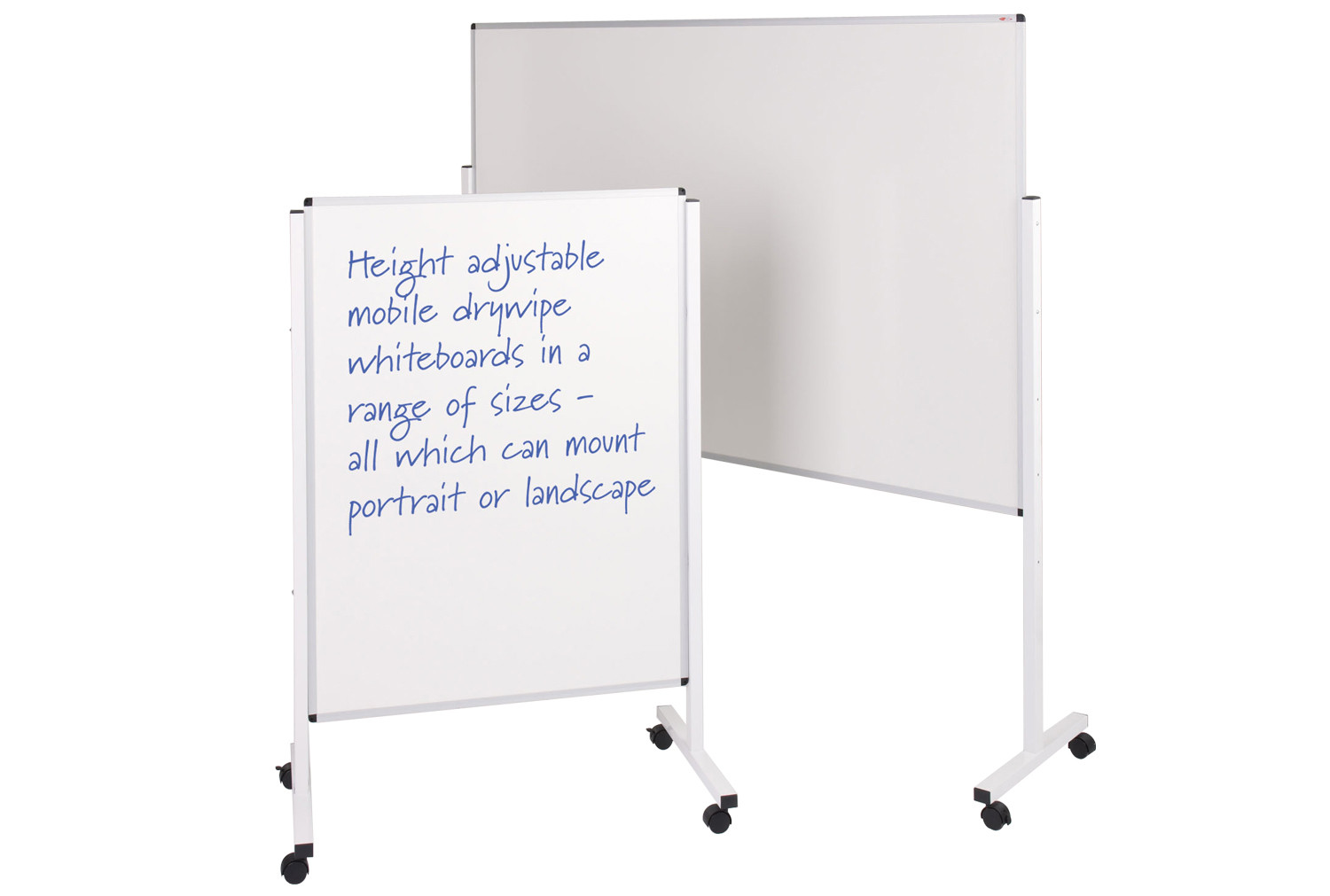 Write on® height adjustable mobile whiteboards