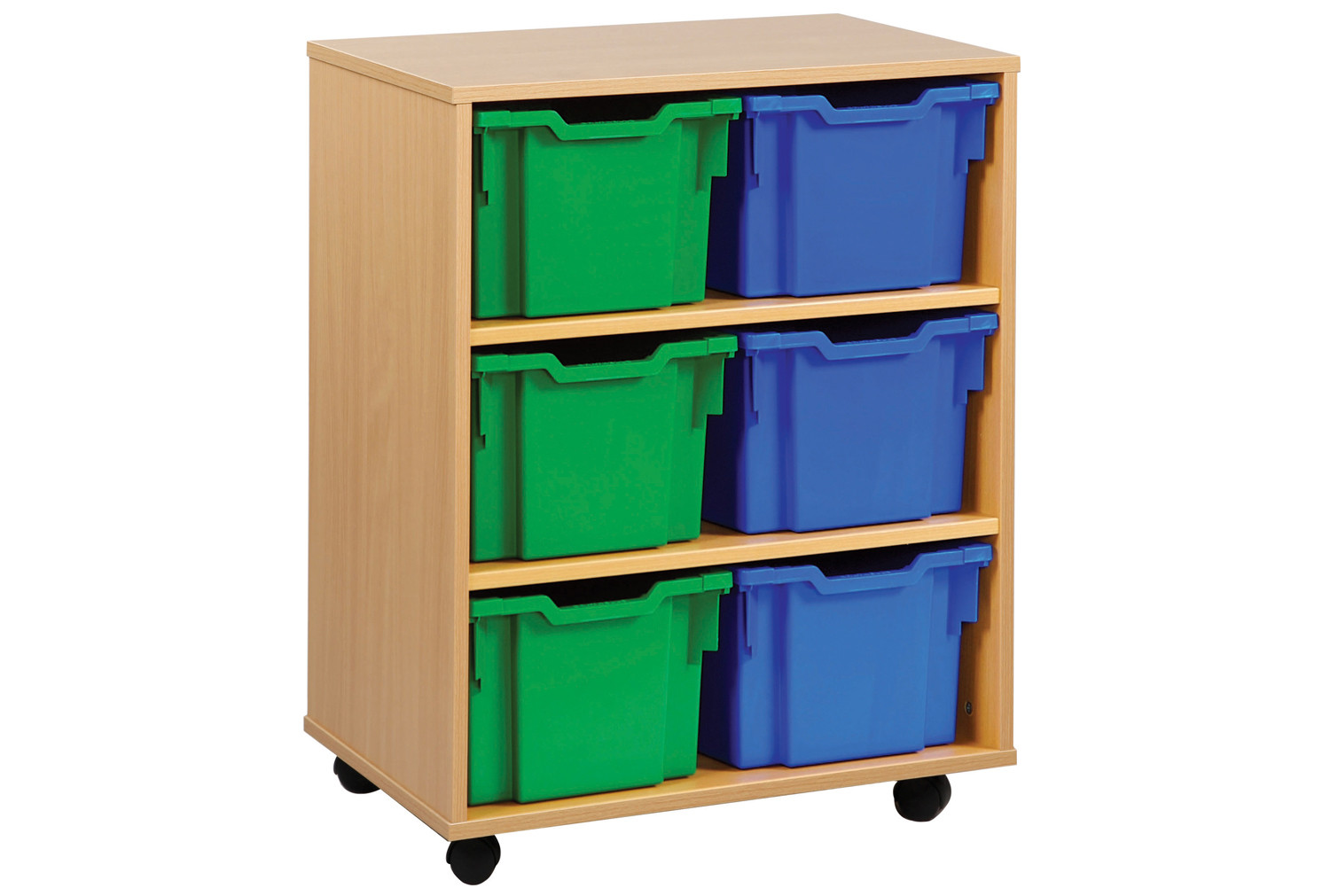 6 Extra Deep Tray Storage Unit. Find Loads More Colours, Materials & Styles Online - Buy Office Furniture Online