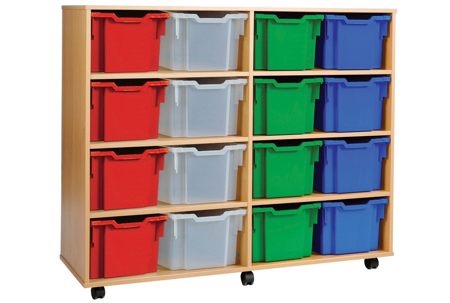 16 Extra Deep Tray Storage Unit. Find Loads More Colours, Materials & Styles Online - Buy Office Furniture Online