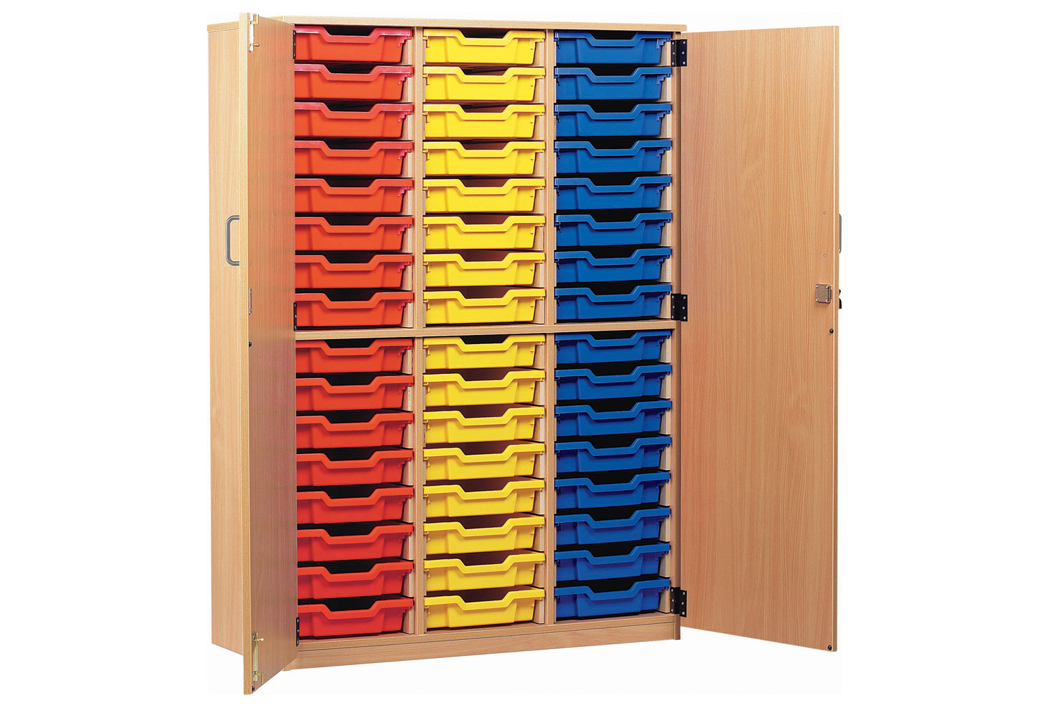 48 tray storage cupboard with full doors