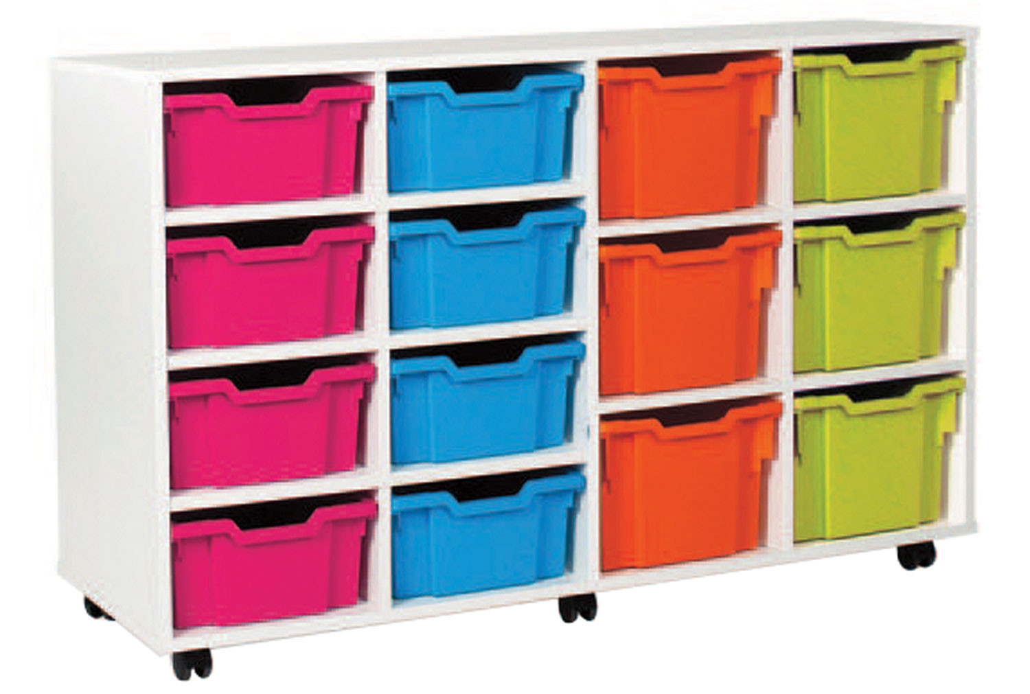 White 8 Deep, 6 Extra Deep Tray Storage Unit. Find Loads More Colours, Materials & Styles Online - Buy Office Furniture Online