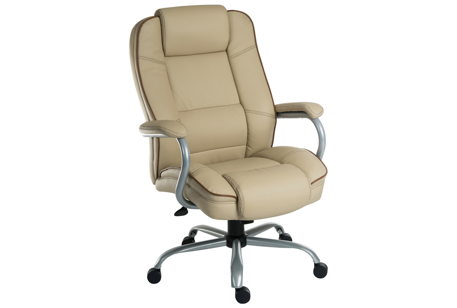 Colossal duo executive cream leather chair
