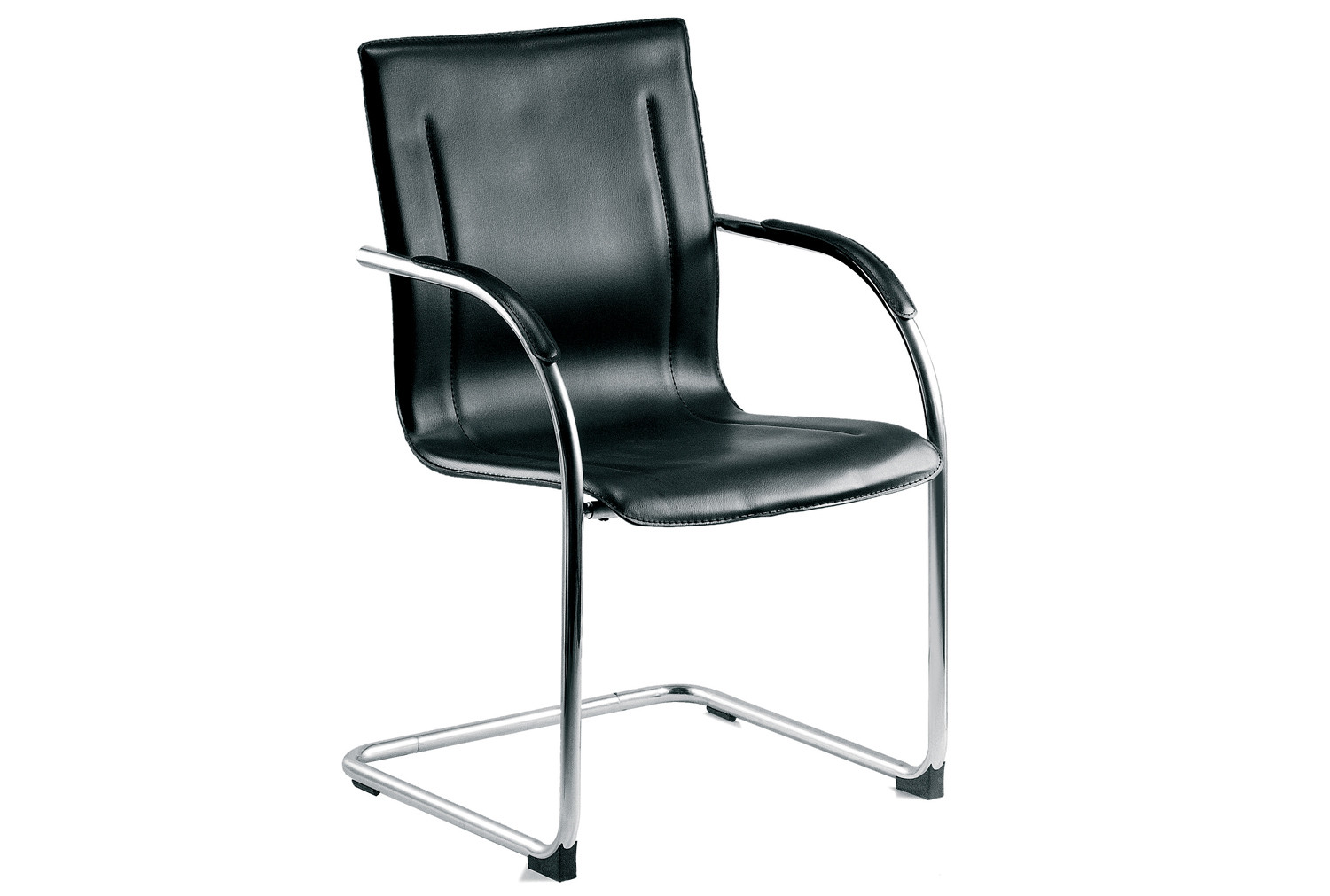 Guest leather faced visitor chair
