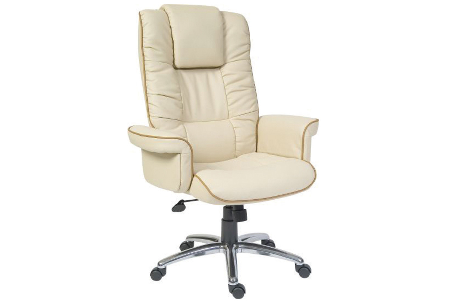 Roma cream leather faced executive chair