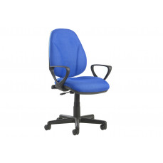 Full lumbar 1 lever operator chair with fixed arms