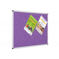Eco-Colour Resist-A-Flame aluminium framed noticeboards