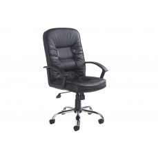 Cluedo high back leather faced executive chair