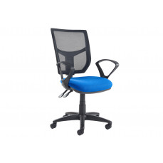Gordy 3 lever mesh back operator chair with fixed arms