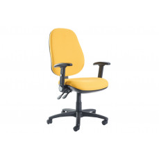 Gilmour extra high back operator chair with folding arms