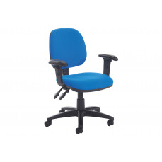 Point medium back operator chair with height adjustable arms