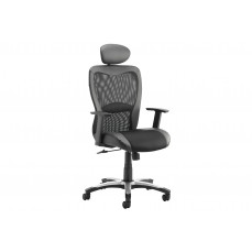 Canica mesh back operator chair with headrest