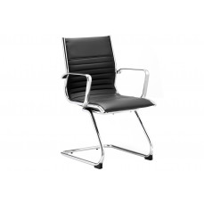 Barcelo leather faced visitor chair