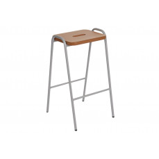 Hille wooden flat top classroom stools
