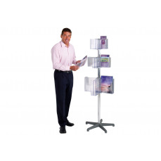 Pirouette portable leaflet dispenser