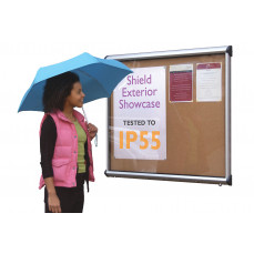 Shield® exterior showcase noticeboards