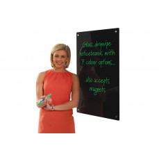 Write on coloured glass boards