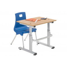 Height adjustable classroom tables