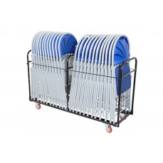 Upright chair transport trolley