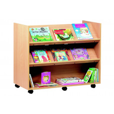 Book storage 2 angled & 1 horizontal shelf