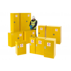 Hazardous substance storage cupboards