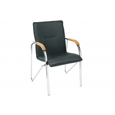 Samba leather faced reception chair