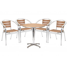 Paulo circular table and 4 armchairs