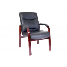 Knightsbridge mahogany/black visitor chair