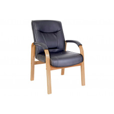 Knightsbridge oak/black visitor chair
