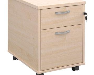Wood Desk Pedestal