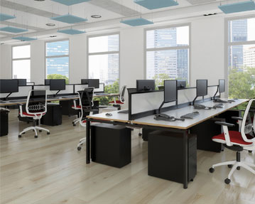 Prime Bench Desks (Black Frame)