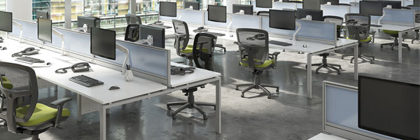 Prime Bench Desks (Silver Frame)