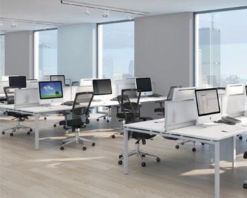 Prime Bench Desks (White Frame)