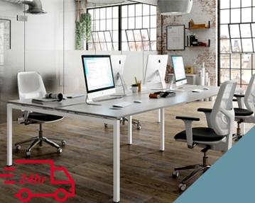 Next-Day Campos Bench Desks (Light Blue)
