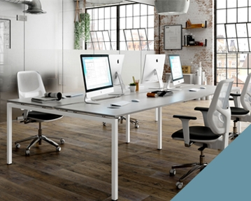 Campos Bench Desks (Light Blue)